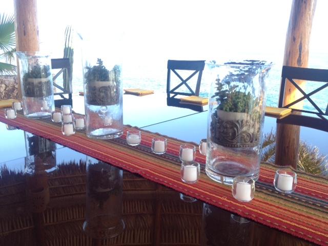 Cabo dinner setup