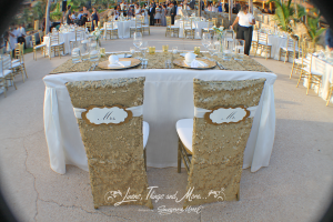 gold sequin chair covers
