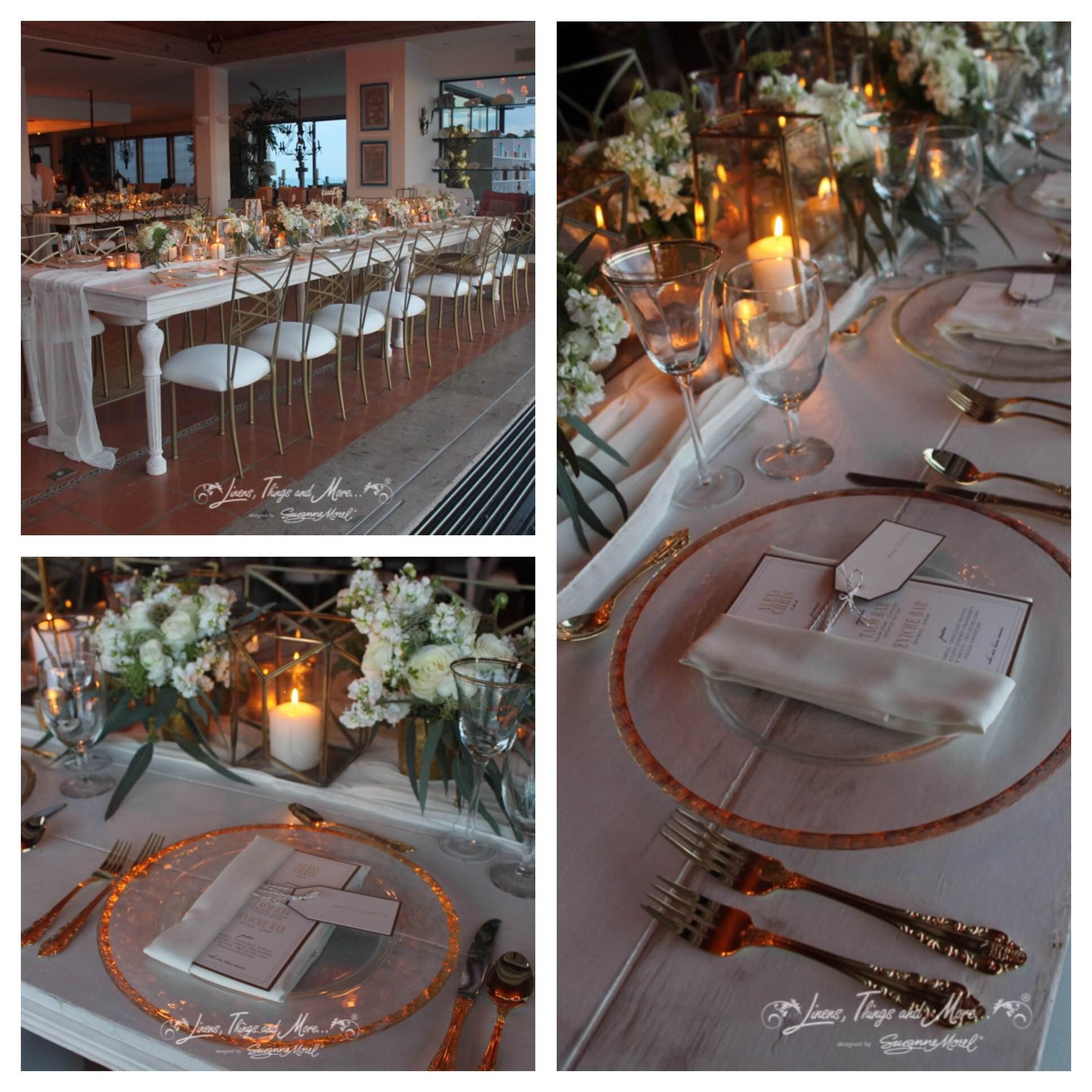 gold white Cabo wedding