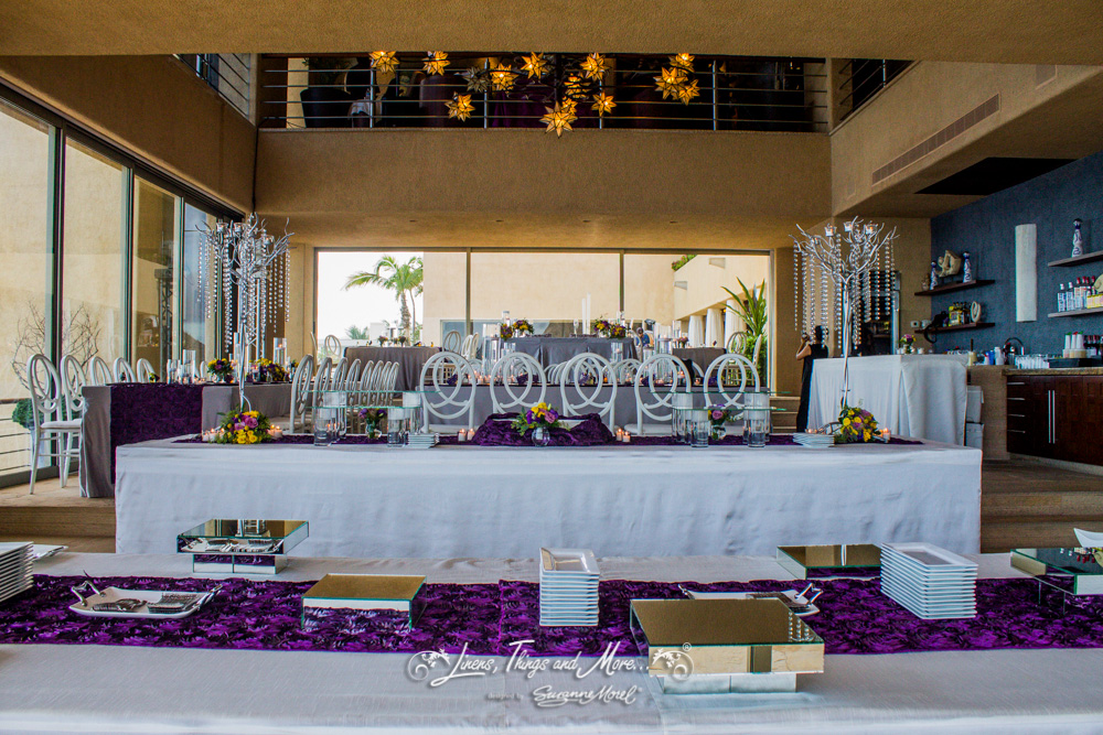 ELEGANT EGGPLANT AND SILVER PRIVATE VILLA WEDDING IN LOS CABOS