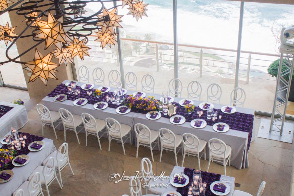 ELEGANT EGGPLANT AND SILVER PRIVATE VILLA WEDDING IN LOS CABOS
